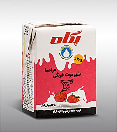شیر توت فرنگی